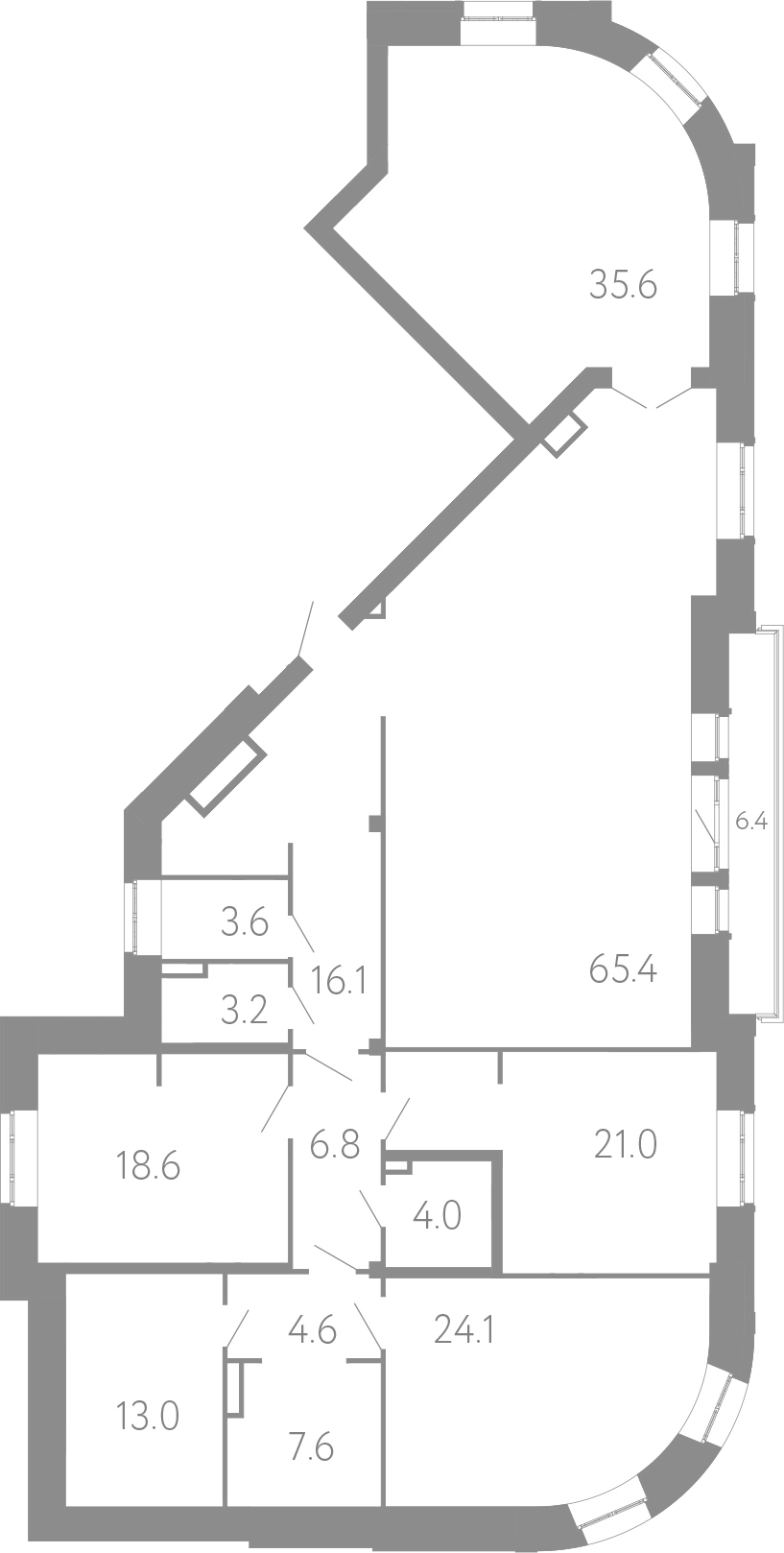 5Е-комнатная, 223.6 м²– 2