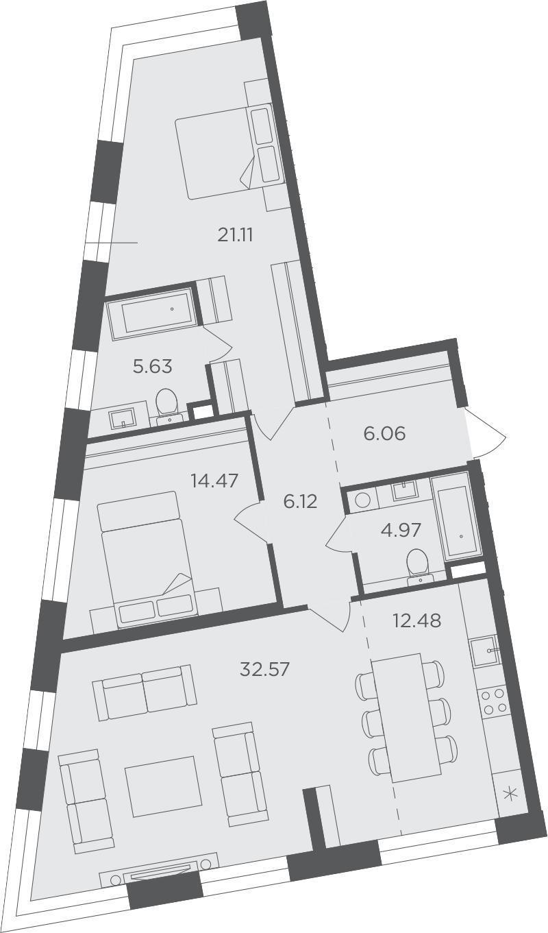 3-к.кв, 103.41 м²