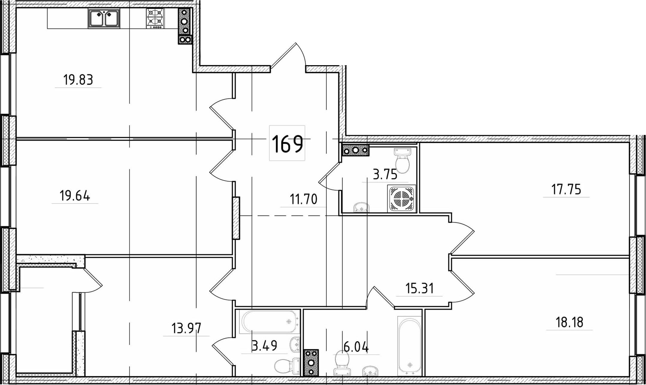 5Е-к.кв, 132.02 м²