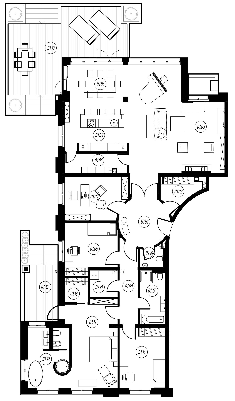 5Е-комнатная, 186.16 м²– 2