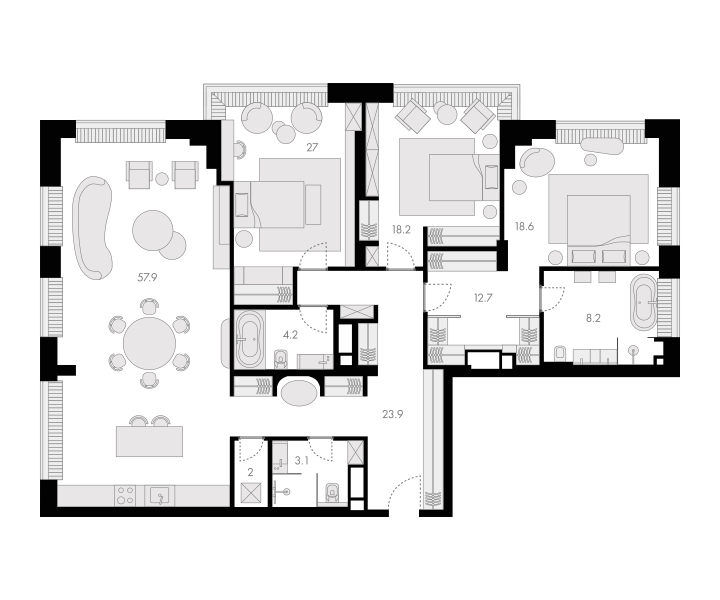 4Е-к.кв, 175.8 м²