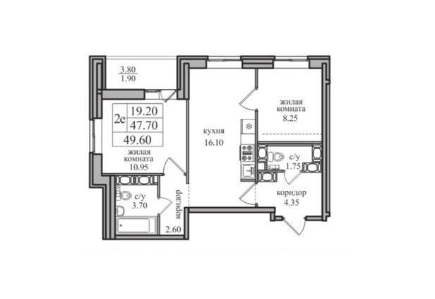 3-к.кв (евро), 51.5 м²