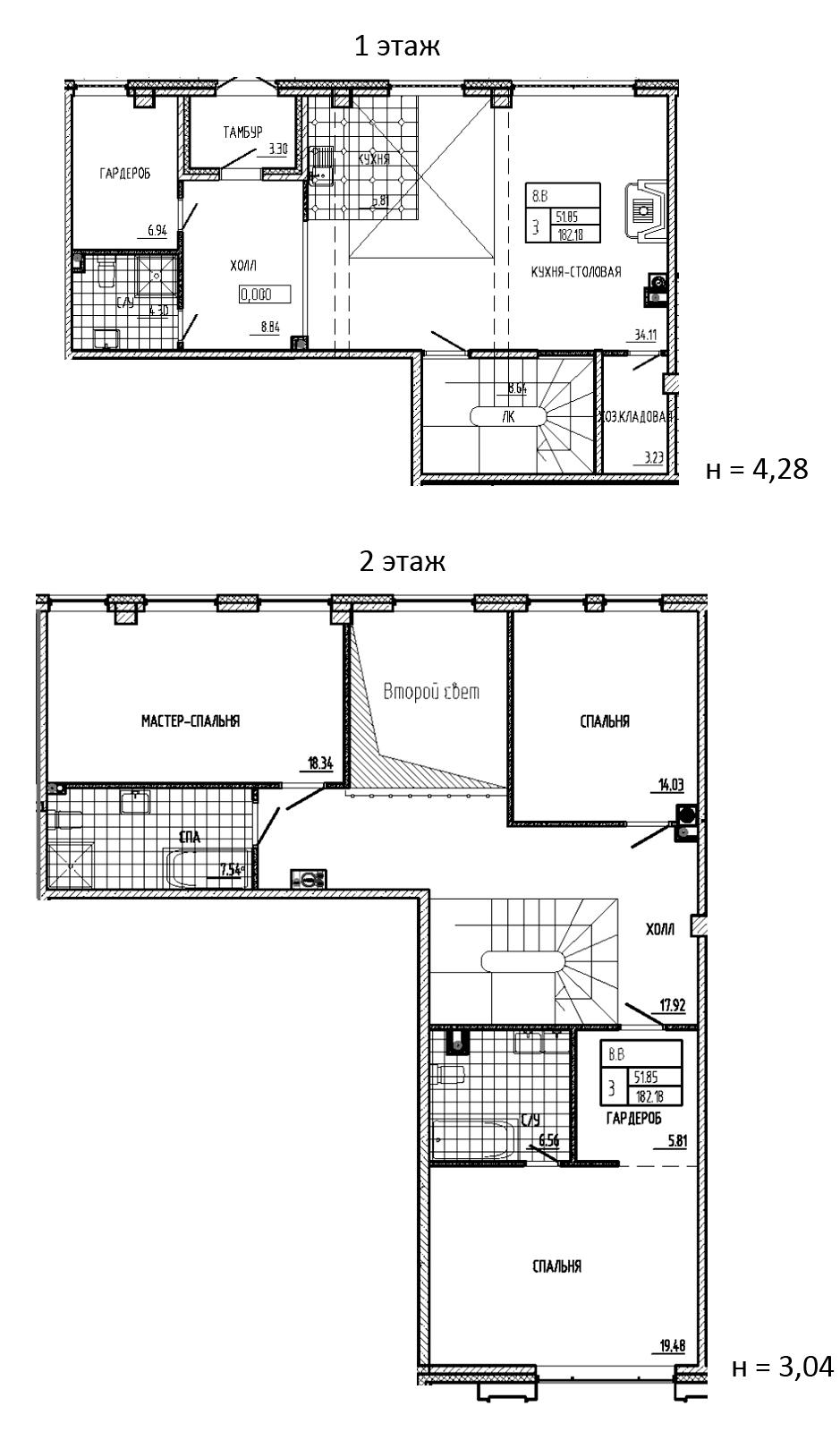 4-к.кв (евро), 182.18 м²