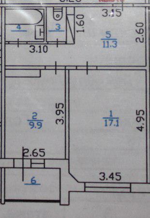 1-к.кв, 42.1 м²