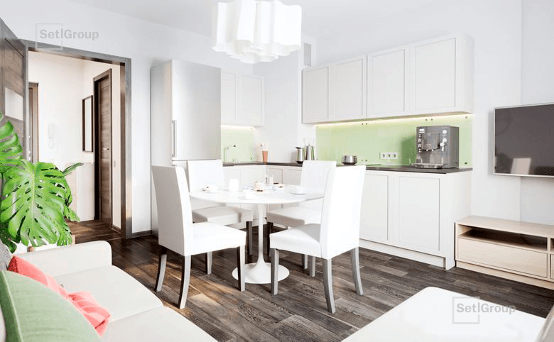 2Е-комнатная квартира, 35.06 м², 4 этаж – 7