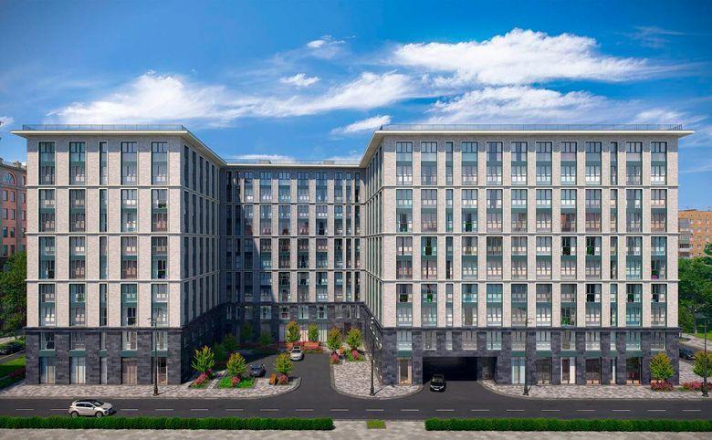 2Е-комнатная квартира, 56.6 м², 7 этаж – 2