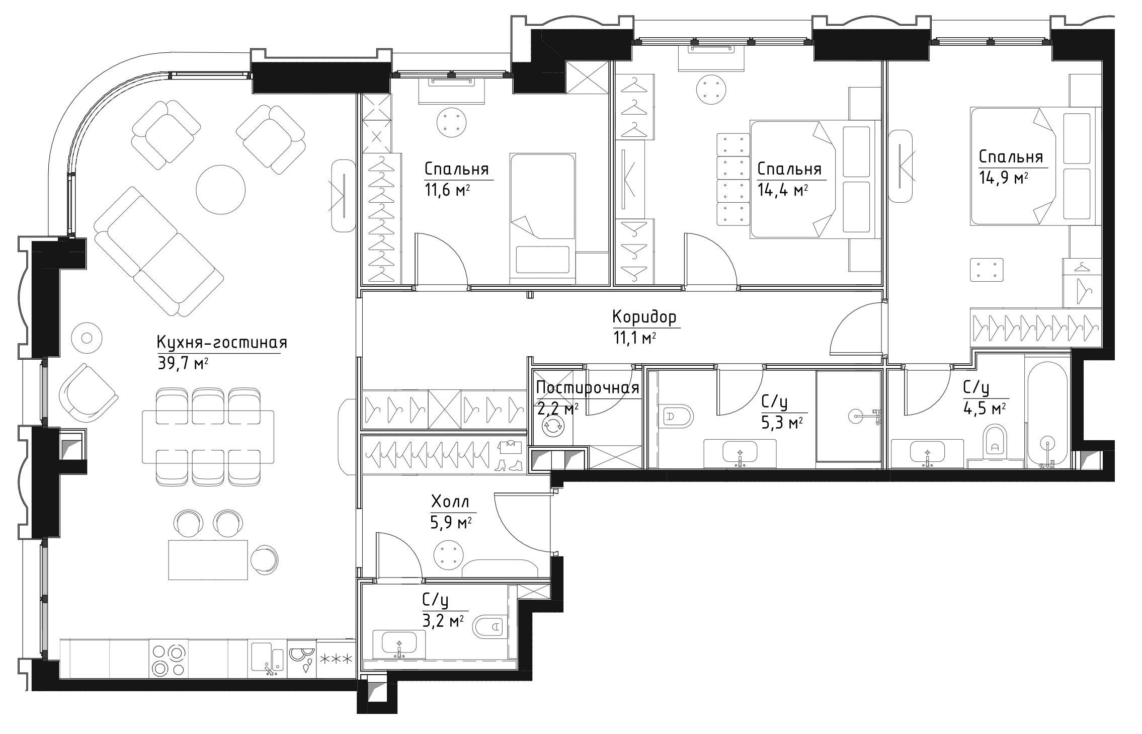 4Е-к.кв, 112.8 м²