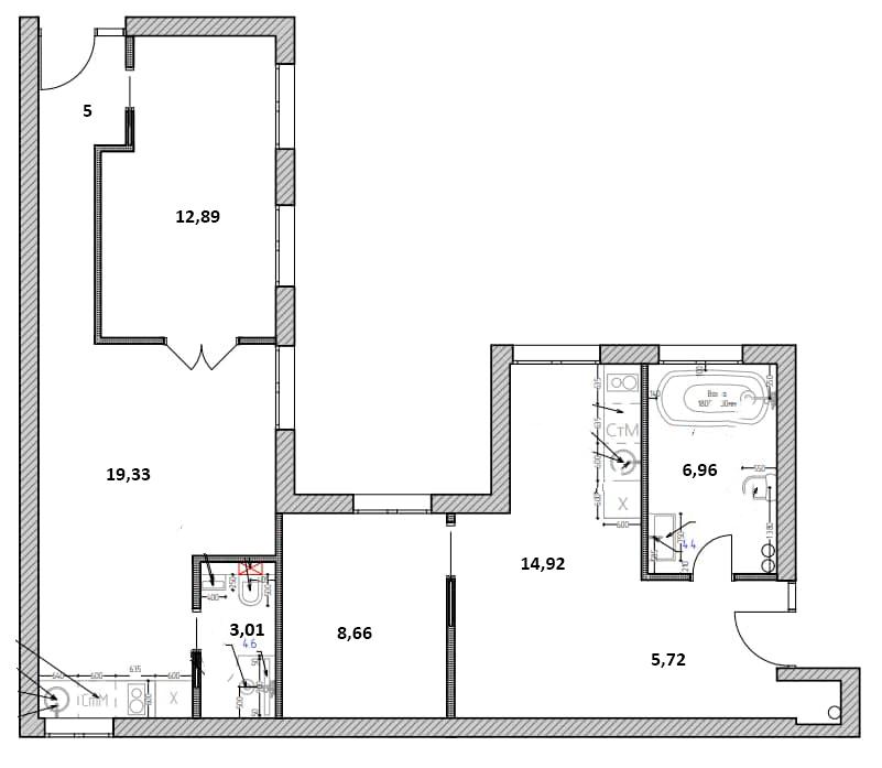 2-к.кв, 76.49 м²