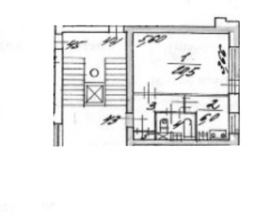 1-комнатная квартира, 32.1 м², 9 этаж – Планировка