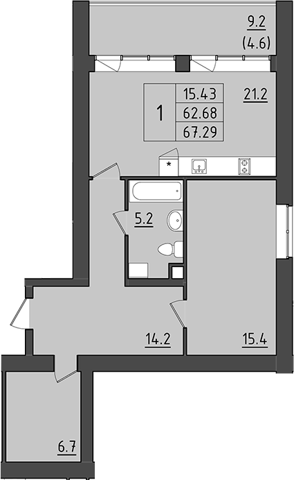 2Е-к.кв, 71.88 м²