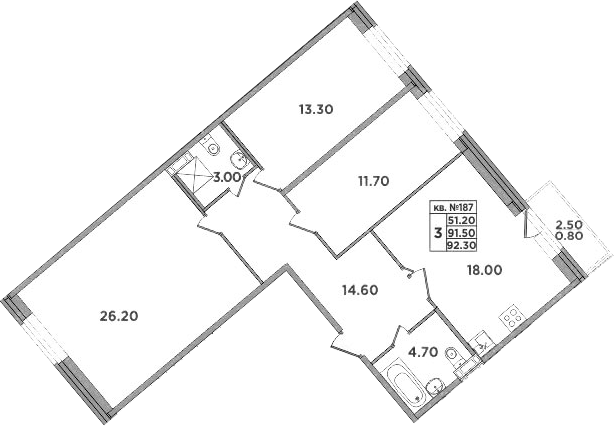 4-к.кв (евро), 94 м²
