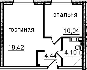 2Е-к.кв, 37 м², от 4 этажа