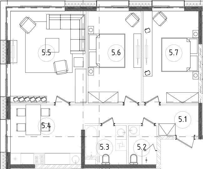 3-комнатная, 76.06 м²– 2