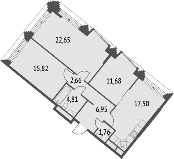 4-к.кв (евро), 83.83 м²