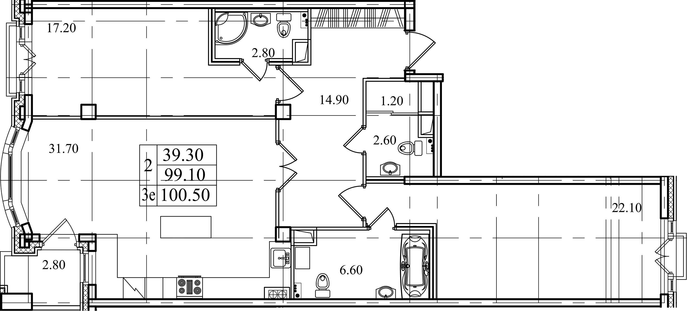 3-к.кв (евро), 101.9 м²