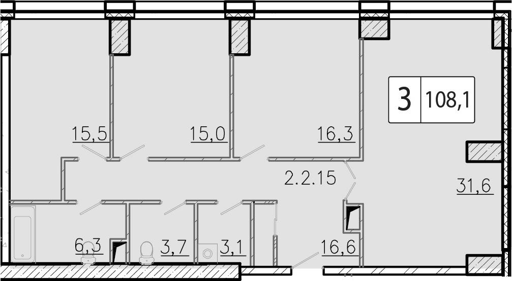 4-к.кв (евро), 108.1 м²
