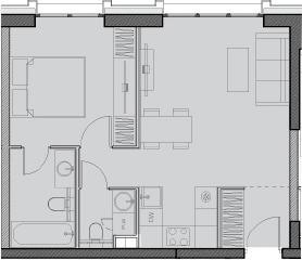 Свободная планировка, 44.4 м²– 2