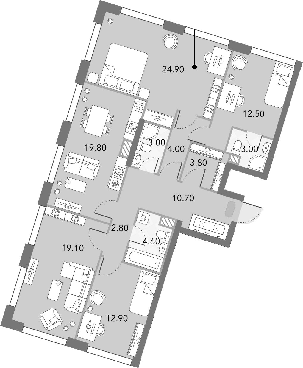 5Е-комнатная, 121.1 м²– 2