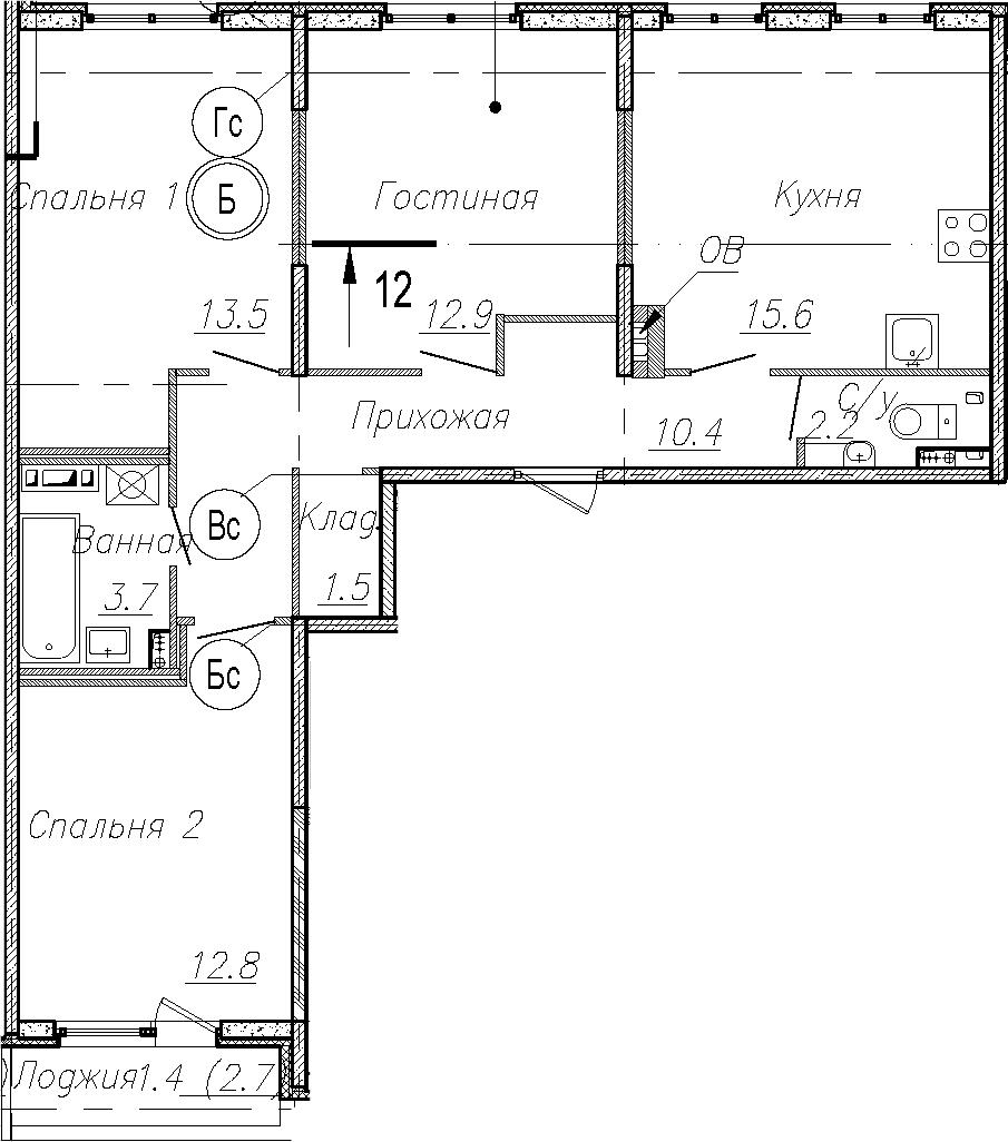 4Е-к.кв, 72.8 м²