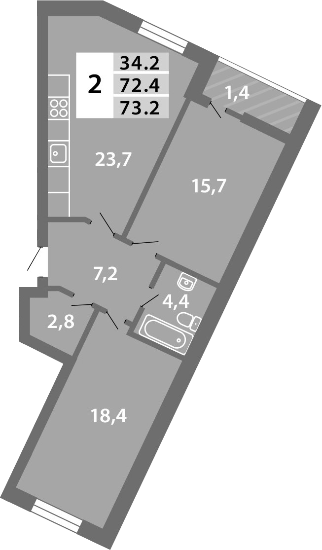3-к.кв (евро), 75.29 м²