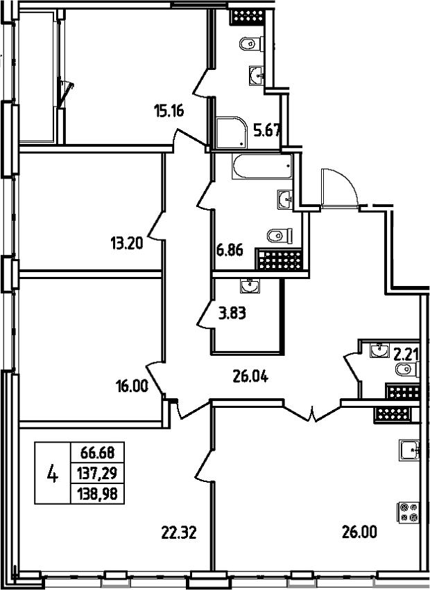 5Е-к.кв, 138.98 м²
