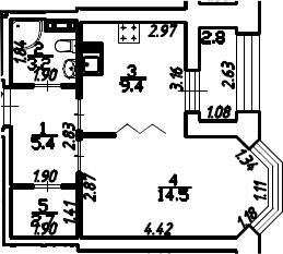 1-к.кв, 36.6 м², 13 этаж
