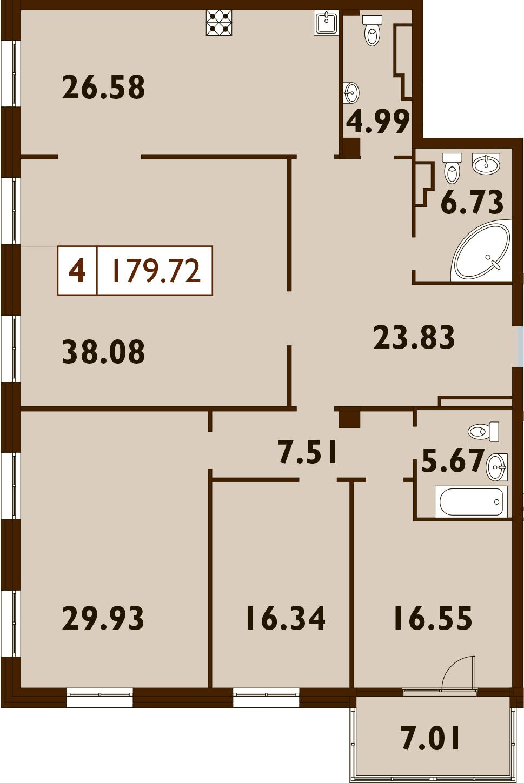 5Е-к.кв, 179.77 м²