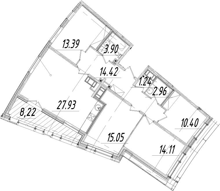 5Е-к.кв, 107.51 м², 14 этаж