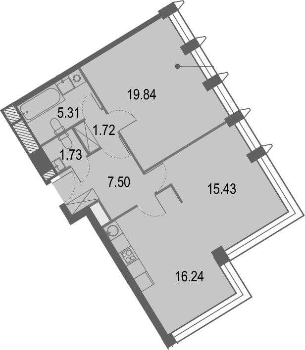 3Е-комнатная, 67.77 м²– 2