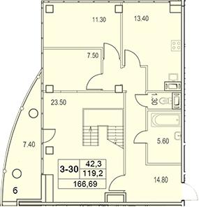 3-к.кв, 360.2 м²