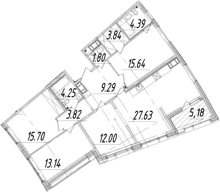5Е-к.кв, 114.09 м², 8 этаж