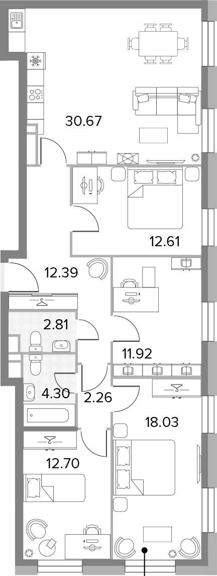 5Е-к.кв, 107.69 м²