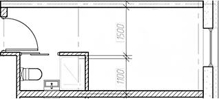 Студия, 15.85 м²