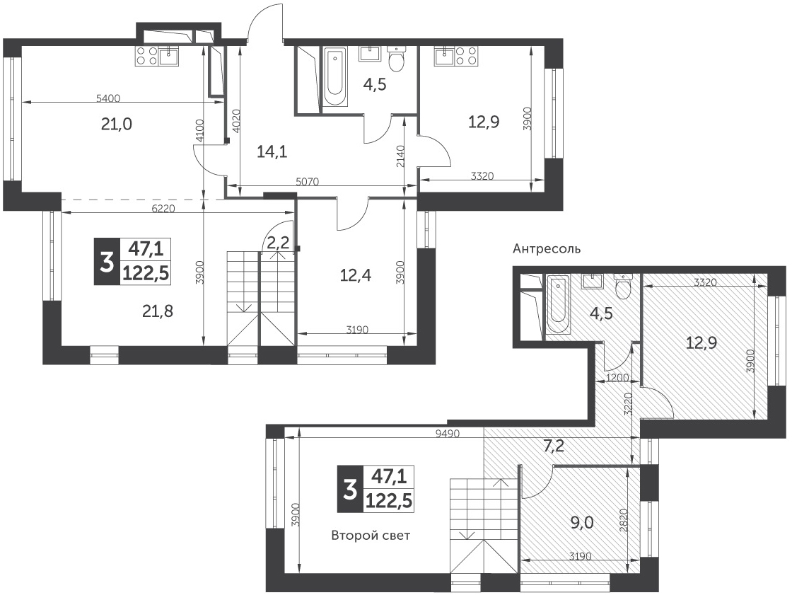 4Е-к.кв, 122.5 м²
