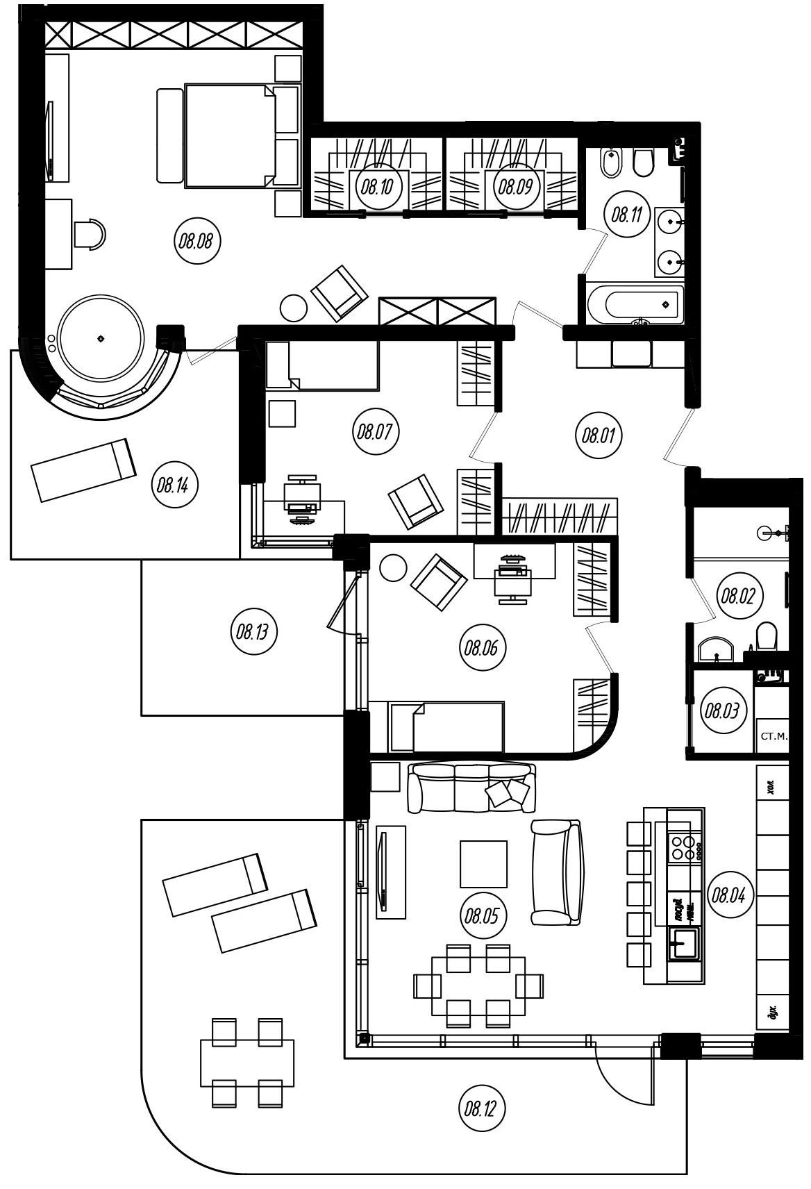 4Е-комнатная, 132.46 м²– 2