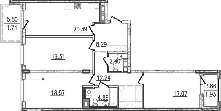 4-к.кв (евро), 112.81 м²