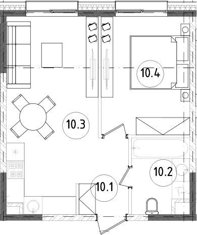 2Е-к.кв, 39.29 м²