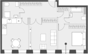 Свободная планировка, 61.5 м²– 2