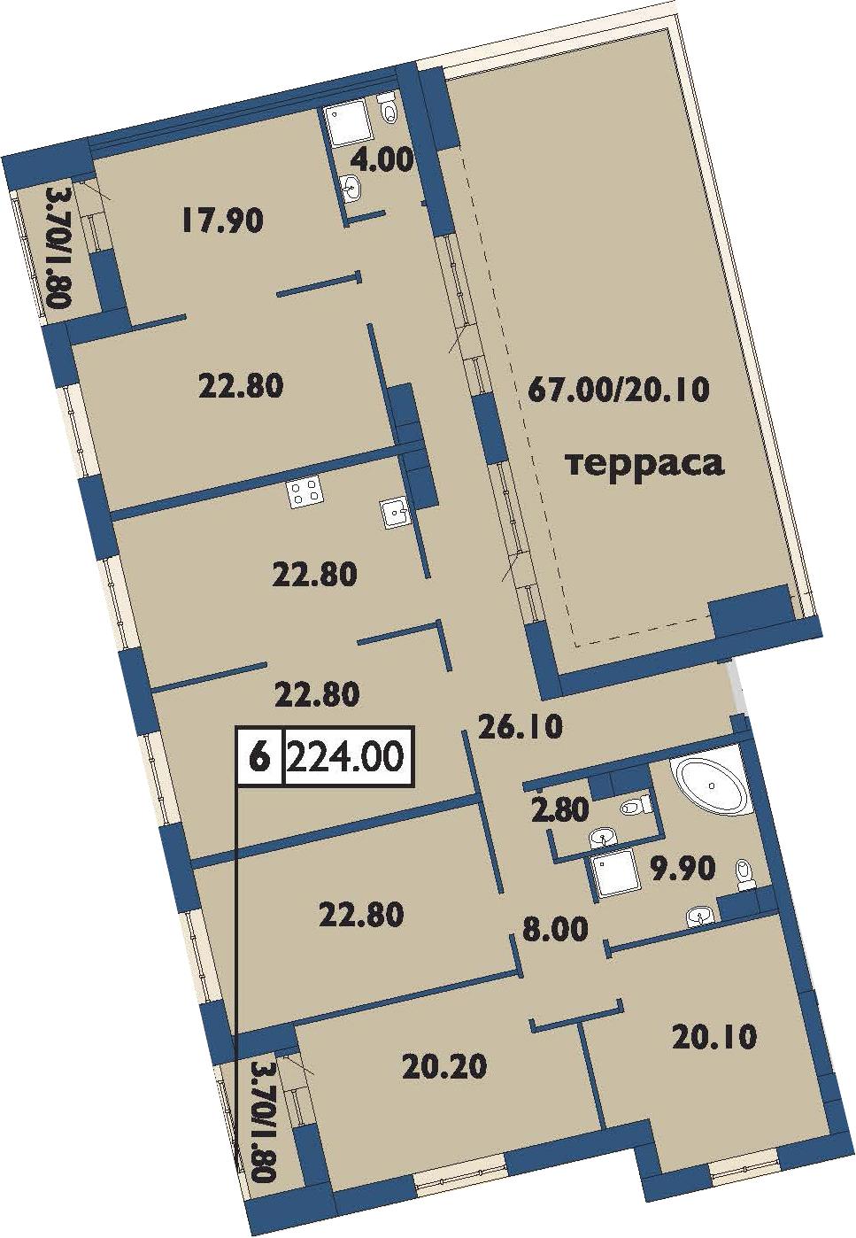 6-к.кв, 274.5 м²