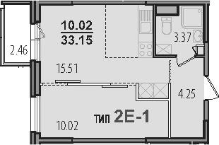 2-к.кв (евро), 35.61 м²