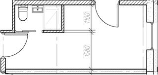Студия, 15.85 м², 4 этаж