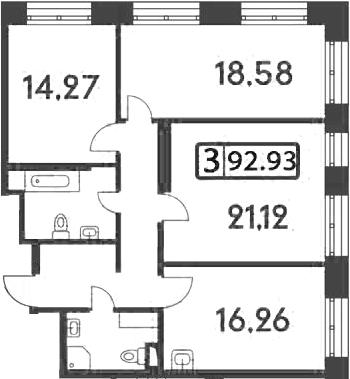 4-к.кв (евро), 93.22 м²
