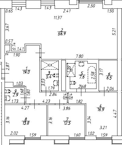 4Е-к.кв, 141.5 м², 7 этаж