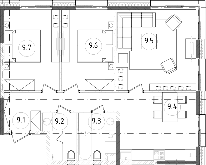 4Е-к.кв, 77.81 м²