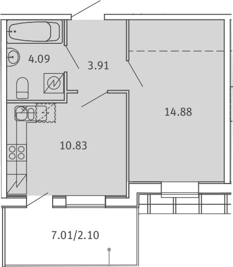 1-к.кв, 35.81 м², 5 этаж