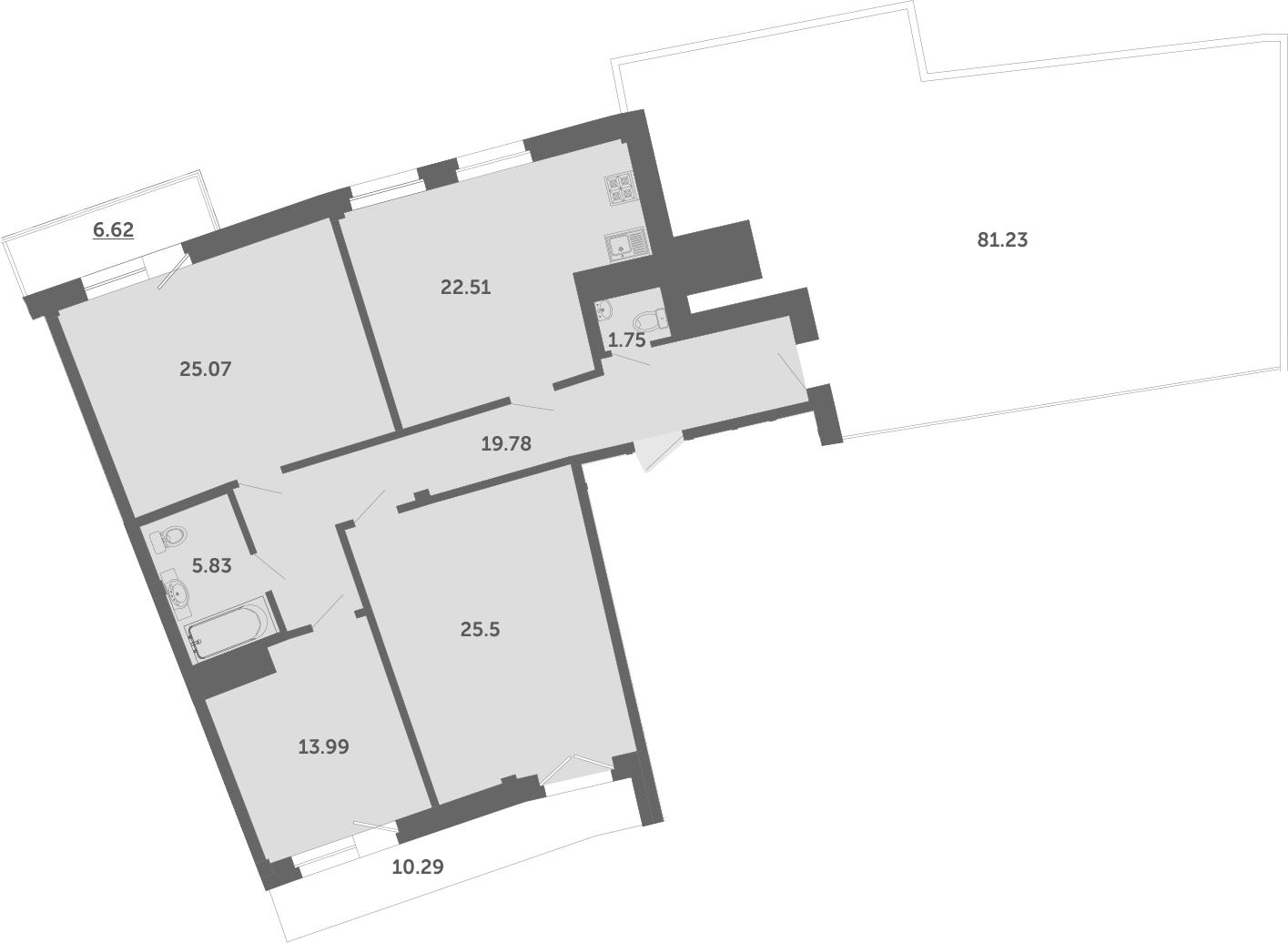 4Е-комнатная, 199.5 м²– 2