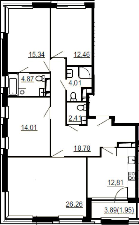 4-к.кв, 112.9 м²
