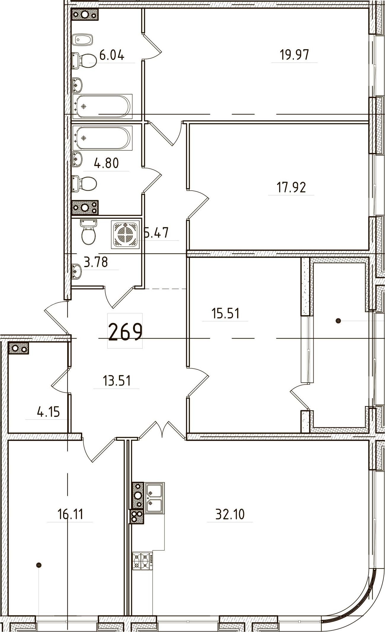 5Е-к.кв, 142.96 м²