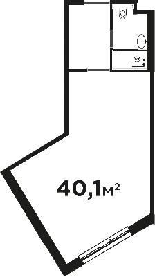 Своб. план., 40.1 м², от 4 этажа