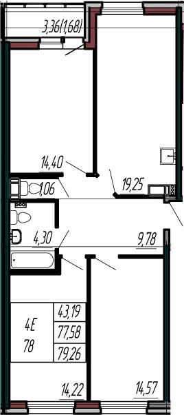 4-к.кв (евро), 80.94 м²